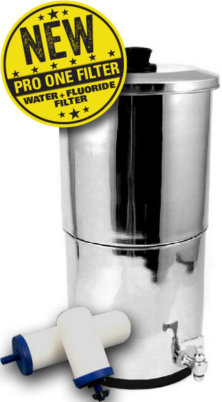 ProPur TRAVELLER w/1 ProOne5 G2Filter 2in1 Fluoride Water Filter