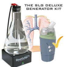 SilverLungs High pH Colloidal Silver Generator (incl. Nebulizer)