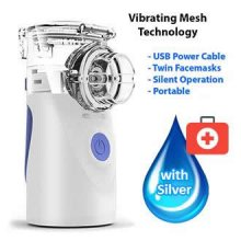 Ultrasonic Respiratory Nebulizer with 100ml Colloidal Silver